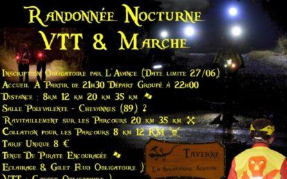 Rando nocturne à Chevannes le 30 Juin